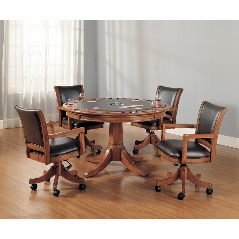 hillsdale park view 5 piece game set with caster chairs 4186gtbc
