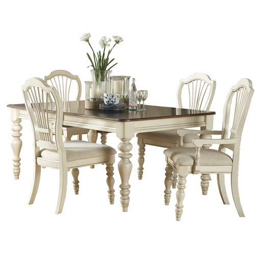 Hillsdale - Pine Island 5 Pc Dining Set With Wheat Back Chairs - 5265DTBRCW