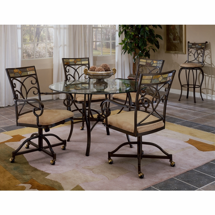 Hillsdale - Pompei 5 Piece Dining Set With Castered Chair - 4442DTBCWC
