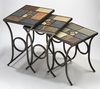 Hillsdale - Pompei Nesting Tables                                                              Set Of 3 Tables With Metal / Slate Base - 61713