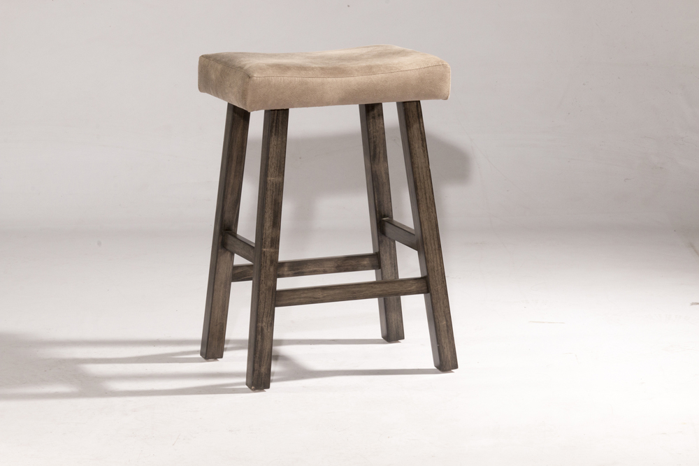 Groovy Hillsdale Saddle Counter Stool Non Swivel Backless Rustic Gray Wood Finish 4621 826 Gmtry Best Dining Table And Chair Ideas Images Gmtryco