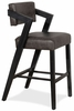 Hillsdale Snyder Non-Swivel Bar Height Stool in Blackwash - 4708-832