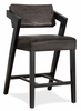 Hillsdale Snyder Non-Swivel Counter Height Stool in Blackwash - 4708-828