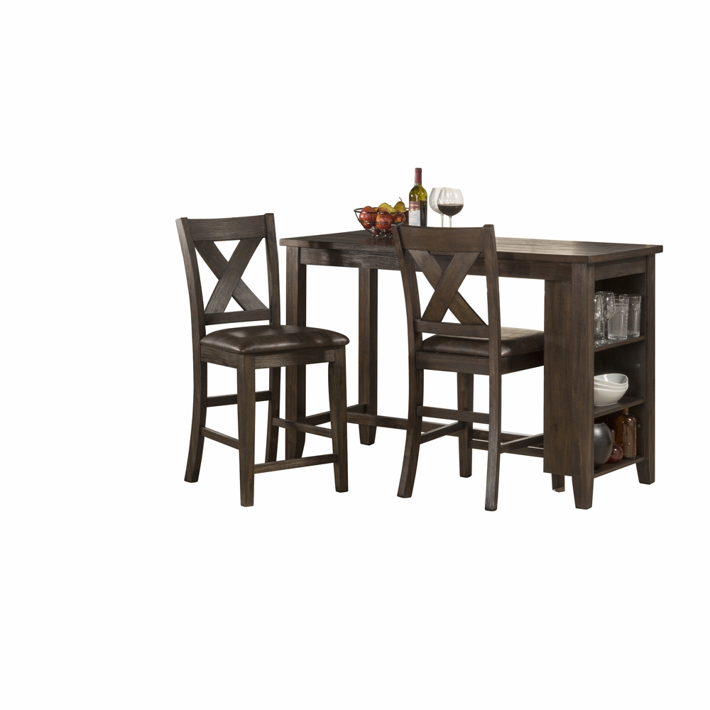 Magnificent Hillsdale Spencer 3 Piece Counter Height Dining Set With X Back Counter Height Stools 4703Ctb3S2 Cjindustries Chair Design For Home Cjindustriesco