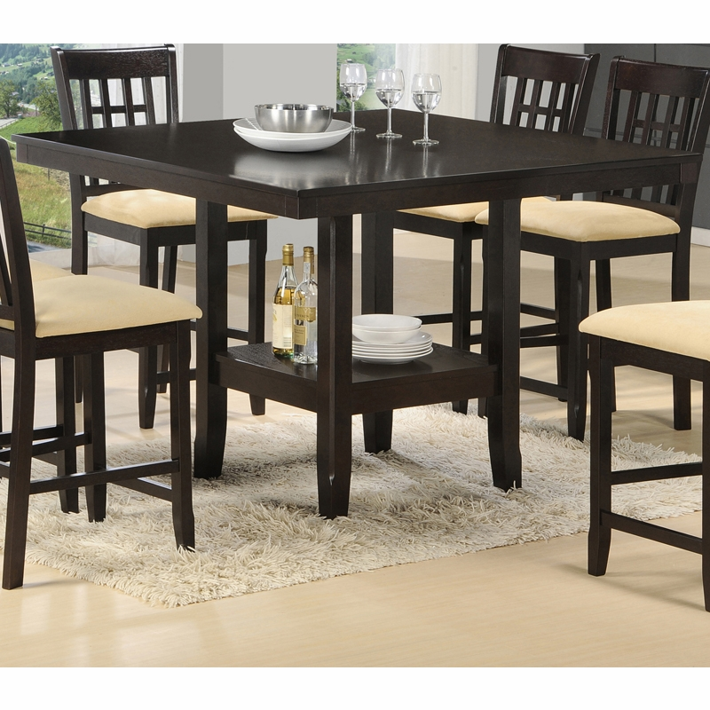 Hilale Tabacon Counter Height Gathering Table With Wine Storage