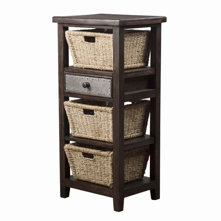 Hillsdale - Tuscan Retreat Basket Stand With Three Baskets Smoke - 4267-2028