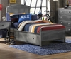 Hillsdale Kids -Urban Quarters Panel Storage Bed - Twin  - Rails Included - 1265BTRPS