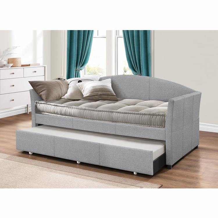 Hillsdale - Westchester Daybed with Trundle - Smoke Gray Fabric - 2019DBTG