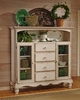 Hillsdale - Wilshire Four Drawer Baker'S Cabinet In Antique White - 4508-854