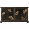 Home Fare - Modern Textured and Distressed Chocolate Four Door Credenza - D153-131