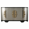 Home Fare - Two Tone Black and Silver Breakfront Four Door Credenza - D153-125