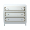 Home Fare - White Drawer Chest with Metallic Geometric Overlay - DS-D115006