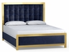 Hooker Furniture - Cynthia Rowley Balthazar King Upholstered Bed - 1586-90866A-GLD5