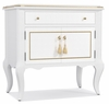 Hooker Furniture - Cynthia Rowley Mystique One-Drawer Two Door-Nightstand - 1586-90015-WH1
