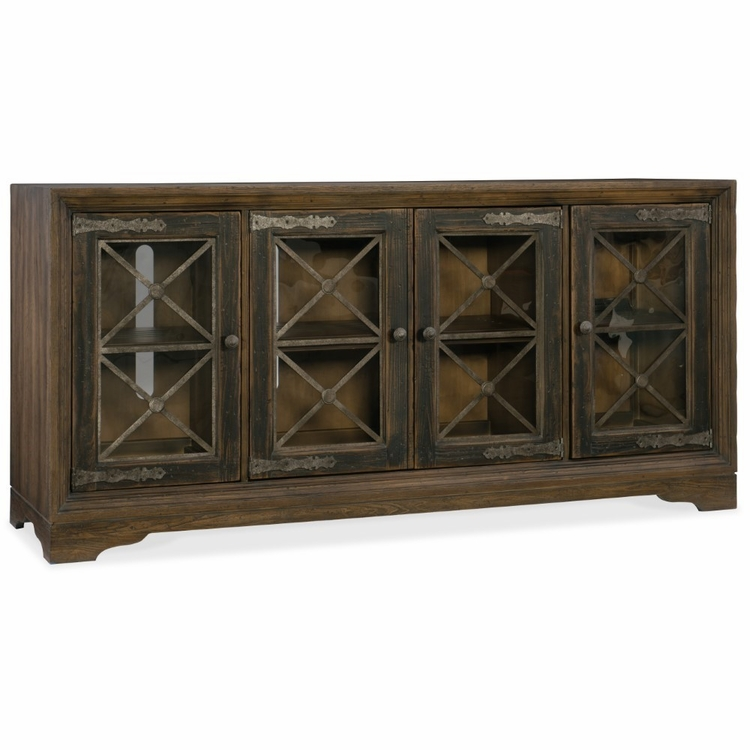 Hooker Furniture - Hill Country Pipe Creek Bunching Media Console - 5960-55476-MULTI