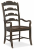 Hooker Furniture - Hill Country Twin Sisters Ladderback Arm Chair - 5960-75300-BLK