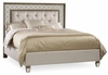 Hooker Furniture - Sanctuary King Mirrored Upholstered Bed - 5414-90866