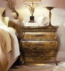 Hooker Furniture - Sanctuary Small Three Drawer Bombe Nightstand-Bling - 3016-90217