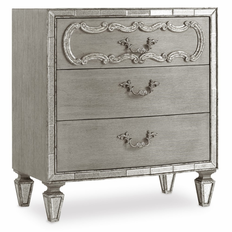 Hooker Furniture - Sanctuary Three Drawer Nightstand - 5603-90016A-LTBR