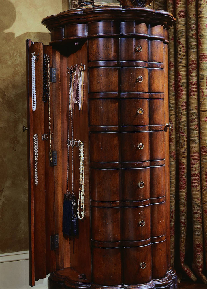 Hooker Furniture - Shaped Jewelry Armoire-Cherry - 500-50-540