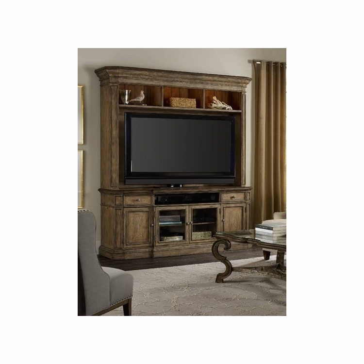 Hooker Furniture - Solana Entertainment Console with Hutch - 5291-55486_55586