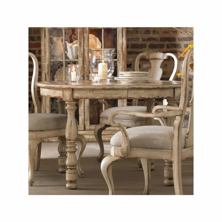 Hooker Furniture Wakefield Round Leg Dining Table W 1 21 Leaf 5004 75201