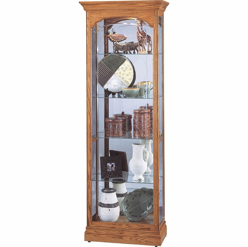 ... Oak Curio Cabinet   680341. Hover To Zoom