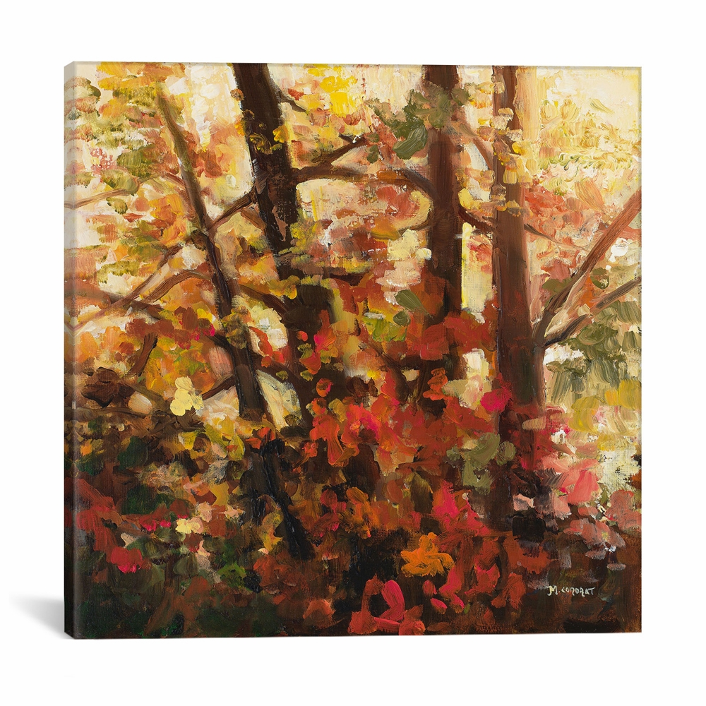 iCanvas - Backlit Leaves III by Michelle Condrat Canvas Print -  ICS170-1PC3-18x18