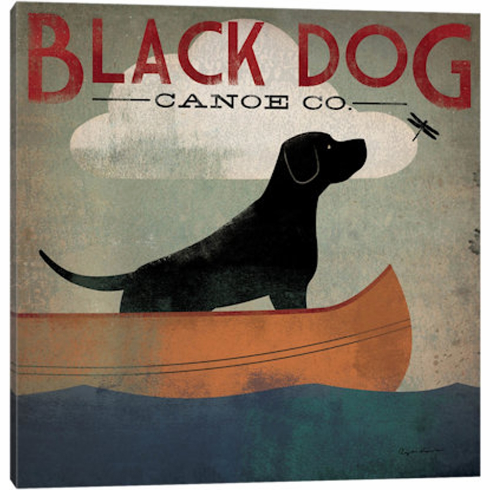 Icanvas Black Dog Canoe Co Ii By Ryan Fowler Canvas