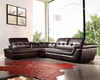 J&M Furniture - 397 Italian Leather Sectional Chocolate Color in Left Hand Facing - 175442911-LHFC