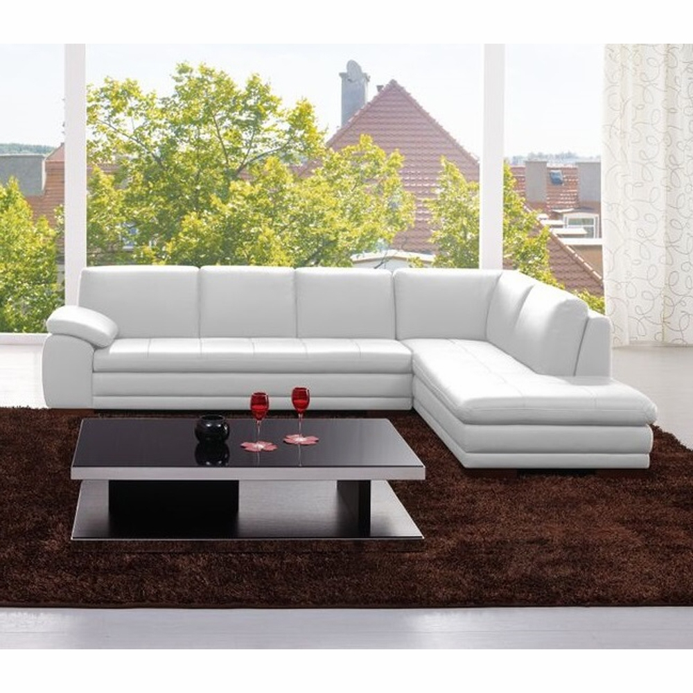 Incredible Jm Furniture 625 Italian Leather Sectional White In Right Hand Facing 175443113331 Rhfc W Short Links Chair Design For Home Short Linksinfo