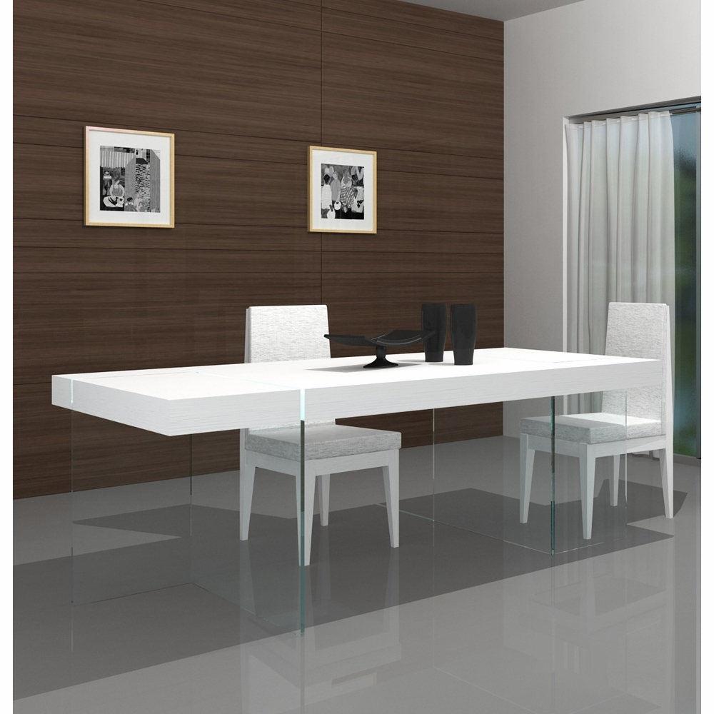J M Furniture Cloud Modern Dining Table In High Gloss 176971 T Hg