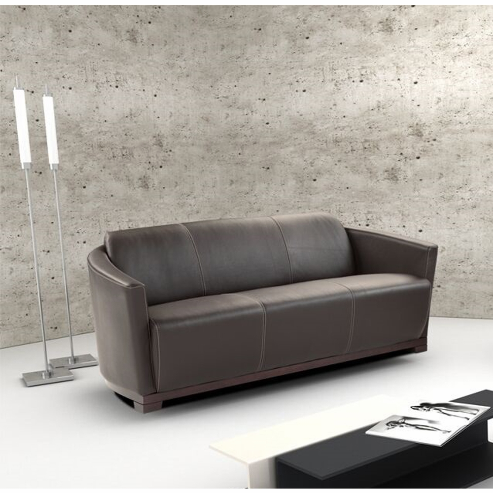 J&M Furniture - Hotel Sofa in Expresso Italian Leather - 17692-S-BW
