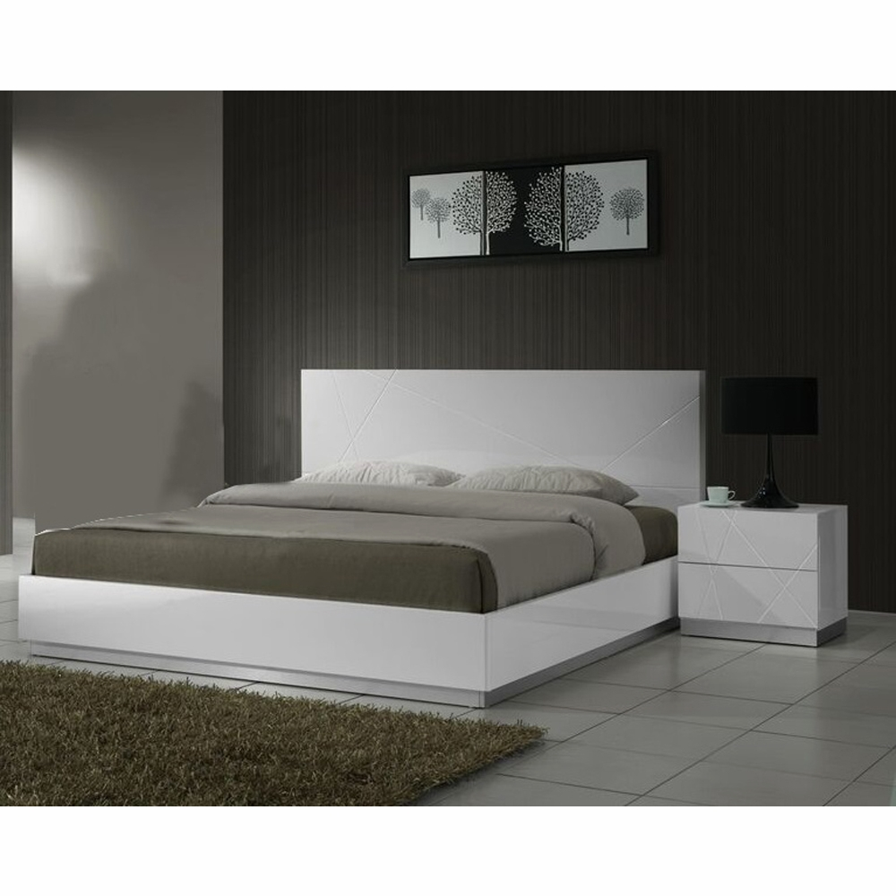 J M Furniture Naples King Bed And Nightstand