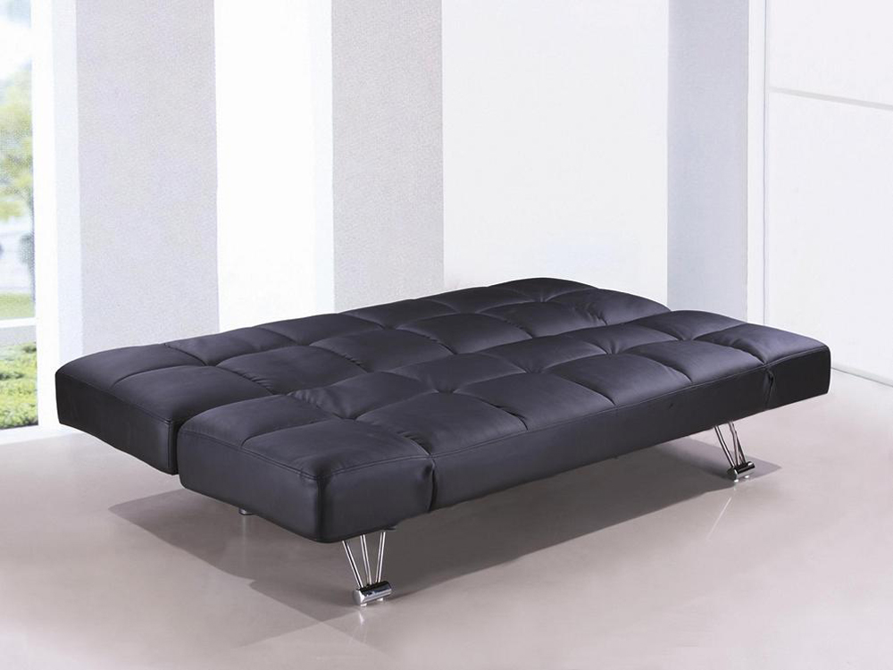 Amazing Jm Furniture Venus Sofa Bed Black Vinyl 1754421 Pu Dailytribune Chair Design For Home Dailytribuneorg