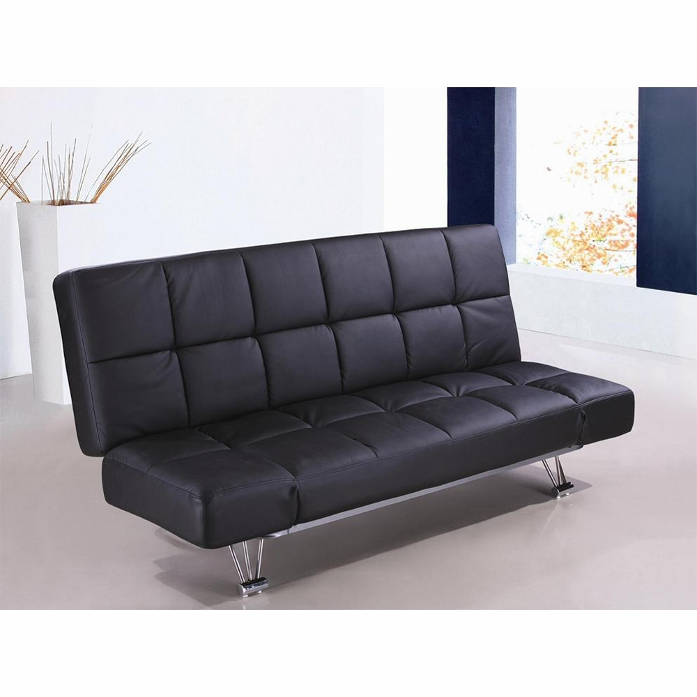 Awe Inspiring Jm Furniture Venus Sofa Bed Black Vinyl 1754421 Pu Dailytribune Chair Design For Home Dailytribuneorg