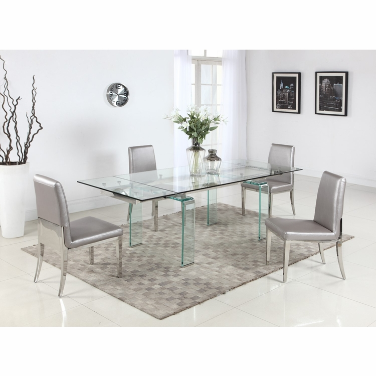 Chintaly - Millie 5 Pieces Dining Set Table With 4 Desiree Chairs - MILLIE-DESIREE-5PC