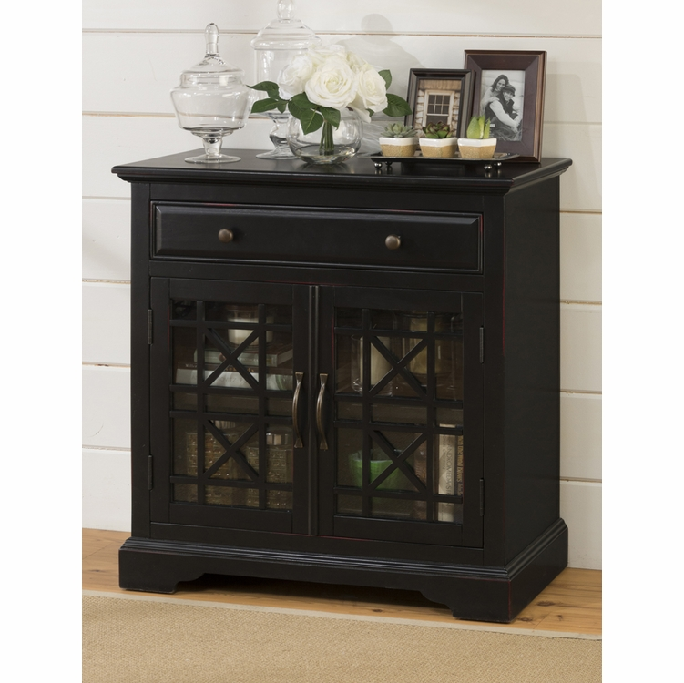 Jofran - Craftsman Antique Black Accent Chest - 275-32