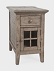 Jofran - Rustic Shores Poer Chairside in watch Hill weathered Grey - 1620-22