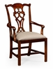 Jonathan Charles Fine Furniture - Buckingham Chippendale Style Classic Mahogany Armchair (Set of 2) - 493330-AC-MAH-F001