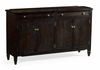 "Jonathan Charles Fine Furniture - Casually Country 38"" Four-Door Dark Ale Sideboard - 491042-PDA"