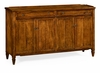 "Jonathan Charles Fine Furniture - Casually Country 38"" Four-Door Sideboard in Walnut - 491042-CFW"