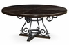 """Jonathan Charles Fine Furniture - Casually Country 66"""" Dark Ale and Wrought Iron Dining Table - 491125-66D-PDA"""