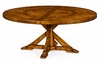 """Jonathan Charles Fine Furniture - Casually Country 72"""" Walnut Round Dining Table with inbuilt Lazy Susan - 491101-72D-CFW"""