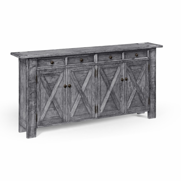 Jonathan Charles Fine Furniture - Casually Country Antique Dark Grey Narrow Sideboard - 491124-ADG