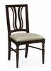 Jonathan Charles Fine Furniture - Casually Country Dark Ale Curved Back Dining Side Chair Upholstered in Mazo (Set of 2) - 491102-SC-PDA-F001