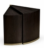 Jonathan Charles Fine Furniture - Casually Country Dark Ale Semicircular Retracting Side Table - 491044-PDA