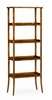Jonathan Charles Fine Furniture - Casually Country Four-Tier Etagere in Country Walnut - 491100-CFW