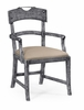 Jonathan Charles Fine Furniture - Casually Country Planked Antique Dark Grey Armchair Upholstered in Mazo (Set of 2) - 491076-AC-ADG-F001