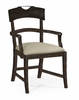 Jonathan Charles Fine Furniture - Casually Country Planked Dark Ale Dining Armchair Upholstered in Mazo (Set of 2) - 491076-AC-PDA-F001